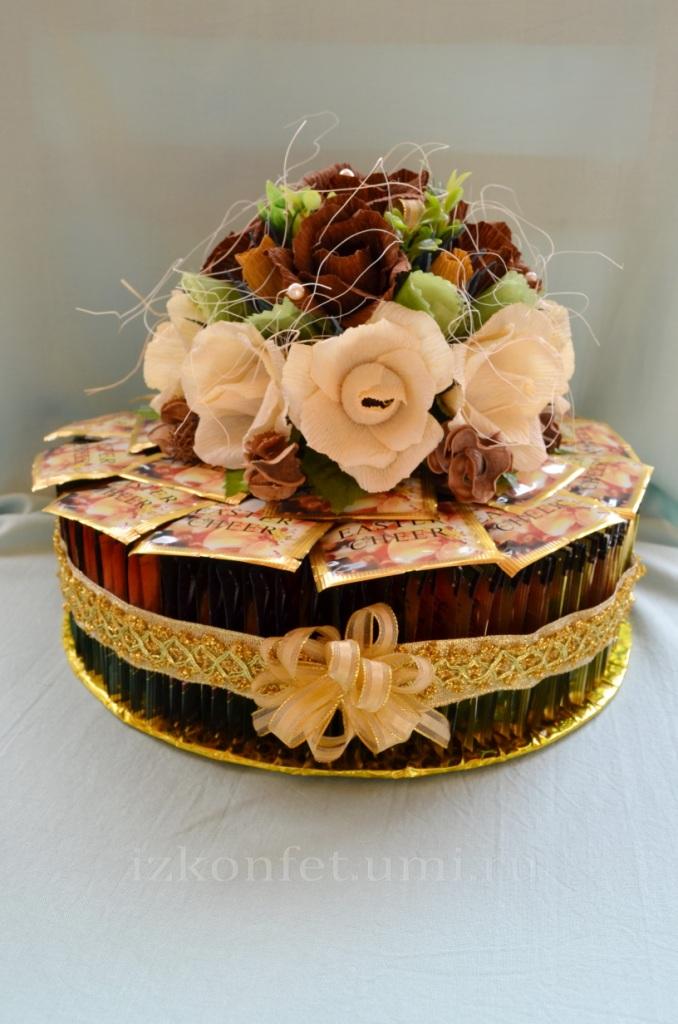 Торты из конфет и чая